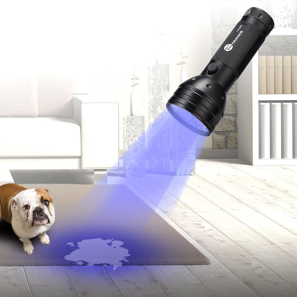 TaoTronics Ultraviolet Flashlight Black Lights Pet Stain Detector