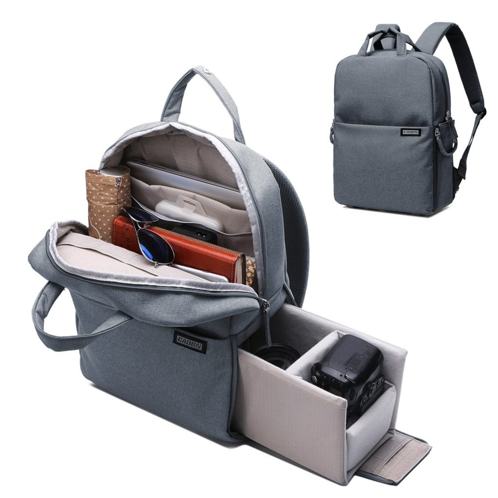 CADeN Travel Camera Bag and Laptop Bag