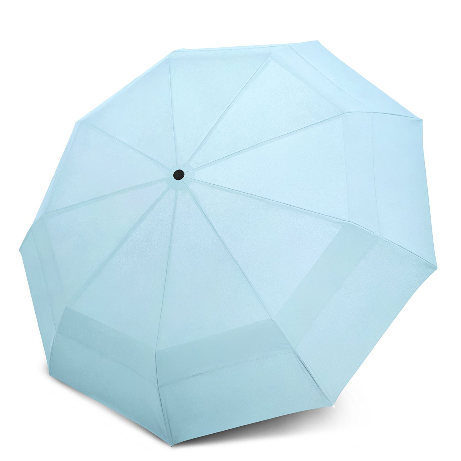 Review of the Best Travel Umbrella—EEZ-Y Compact Travel Umbrella with Windproof Double Canopy Construction and Auto Open Close