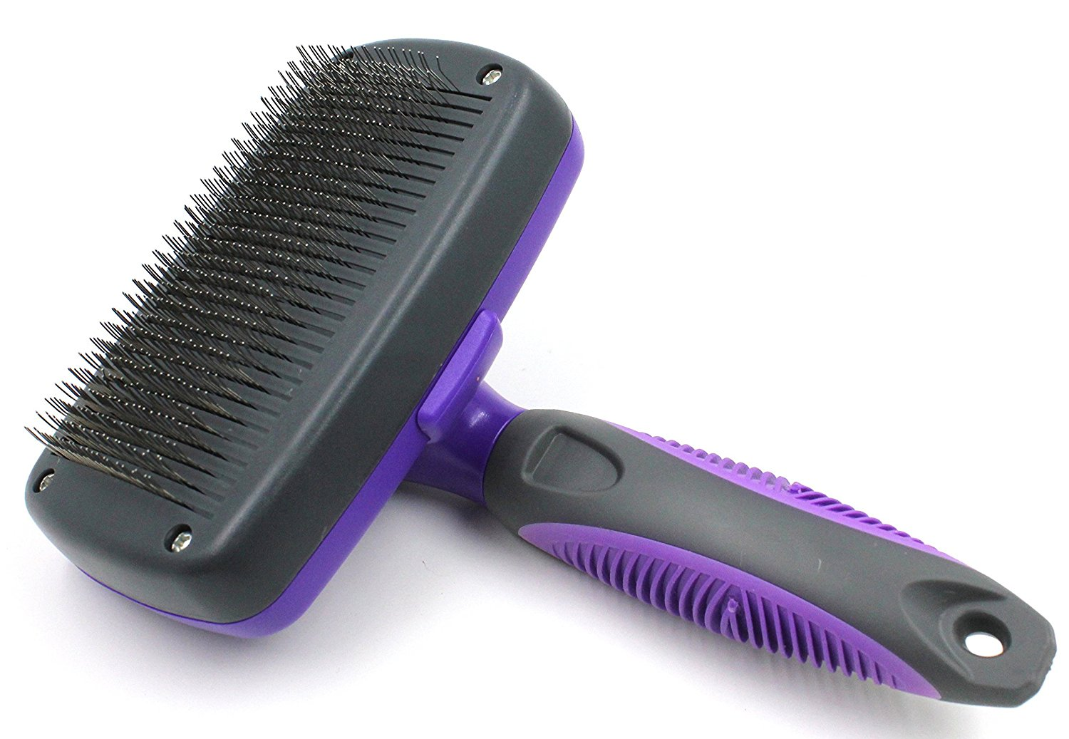 Review of Hertzko Self Cleaning Slicker Hair Brush for Cats and Dogs