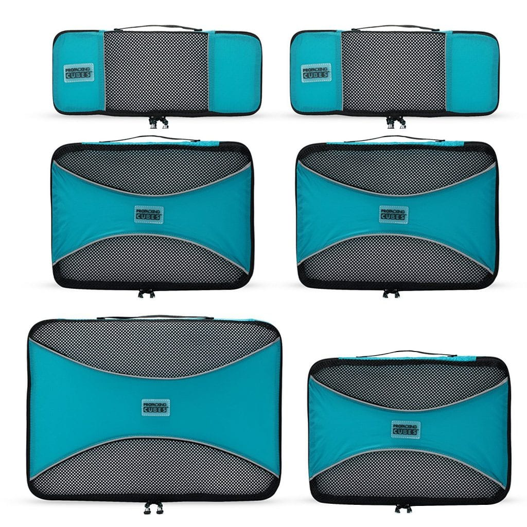 The Pro Packing Cubes — 6 Piece Lightweight Travel Cube Set