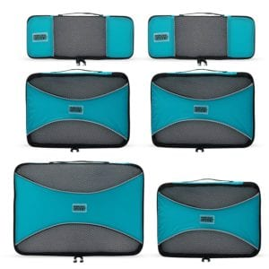 Pro Packing Cubes - 6 Piece Lightweight Travel Cube Set