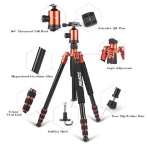 ZoMei Z818 Lightweight Travel Tripod for DSLR Camera