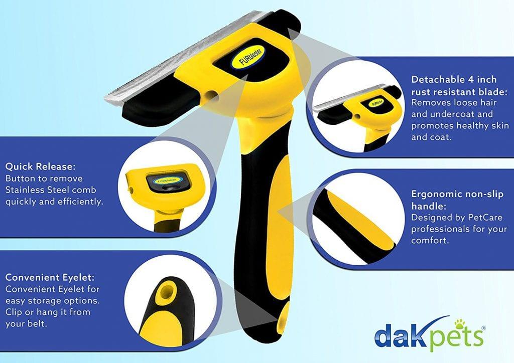 DakPets FURblaster Deshedding Grooming Tool